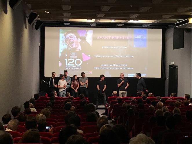 120 BPM , Luminor Hôtel de Ville rencontre avec l'équipe du film